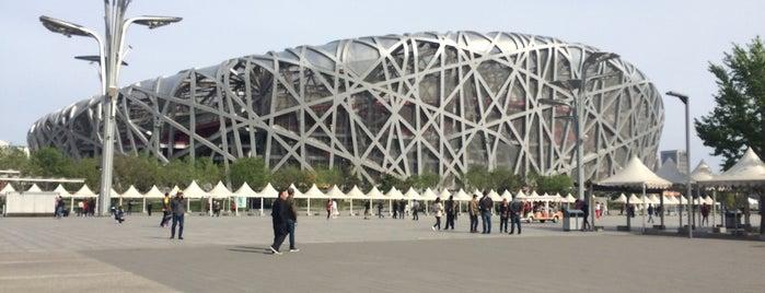 National Stadium (Bird's Nest) is one of สถานที่ที่ Wanny ถูกใจ.