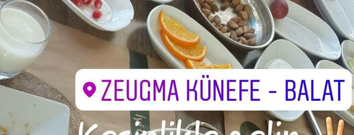 Zeugma Künefe is one of Lugares favoritos de Gözde.