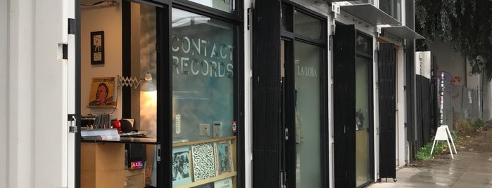 Contact Records is one of Oakland record shops.