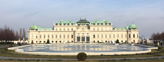 Belvedere Palace is one of Vienna, Austria.