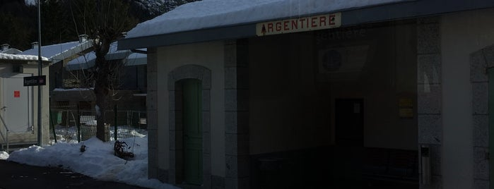 Gare SNCF d'Argentière is one of Chamonix Transport.