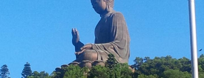 Tian Tan Buddha (Giant Buddha) is one of Locais curtidos por Soy.