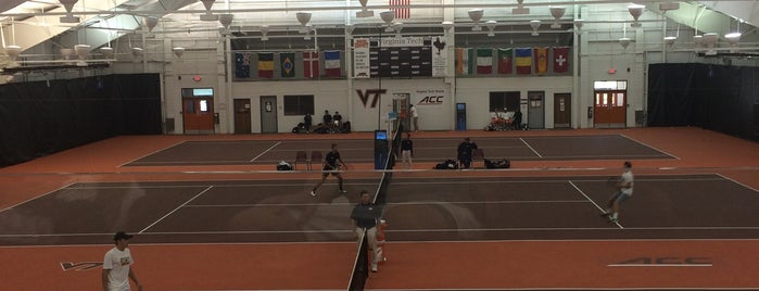 Burrows-Burleson Tennis Center is one of Virginia Tech.