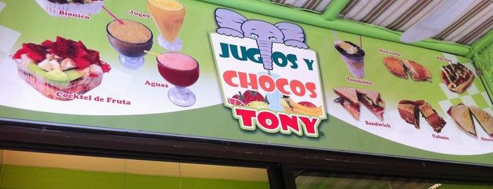 Jugos y Chocos Tony is one of Aguascientes.