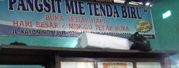 Depot Mie Pangsit Tenda Biru is one of The most favorite foods in Surabaya.