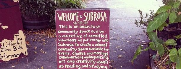 SubRosa Anarchist Café is one of Gespeicherte Orte von Matt.