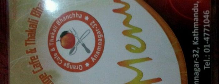 Orange Cafe Thakali Bhanchha is one of Posti salvati di Manish.