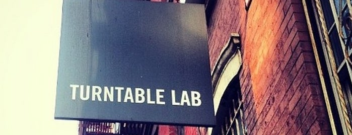 Turntable Lab is one of NYC to-do.