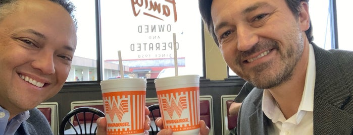 Whataburger is one of Locais curtidos por Angie.