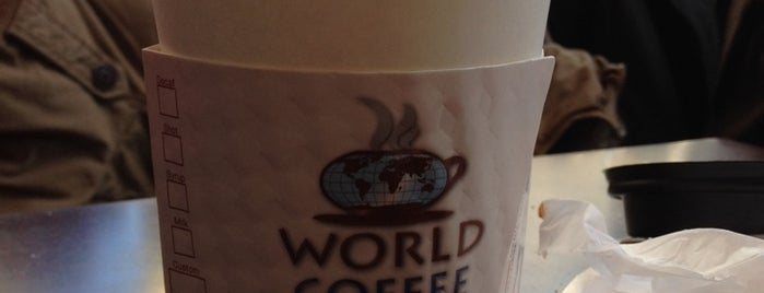 World Coffee is one of New York City Coffee by Subway Stop.