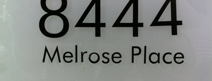 Melrose Place is one of LA.
