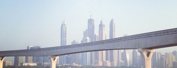 The Palm Jumeirah Bridge is one of Dubai, UAE.
