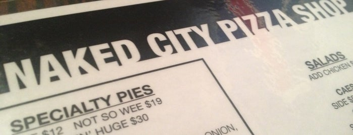 Naked City Pizza Shop is one of Vegas Cheap (and Delicious) Eats 2012.