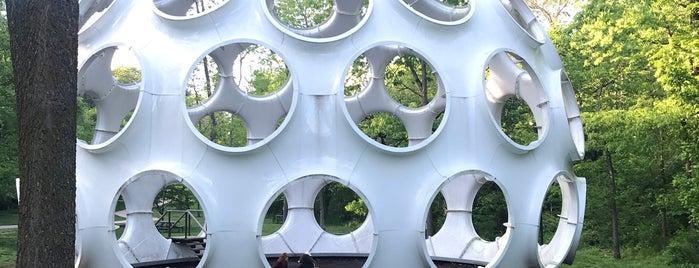Buckminster Fuller's Fly's Eye Dome is one of Northwest Arkansas.