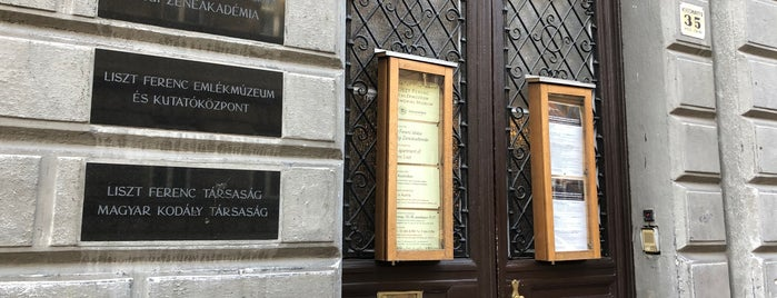 Liszt Ferenc Múzeum is one of Budapest.