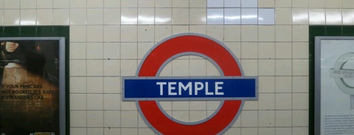 Temple London Underground Station is one of Railway stations visited.