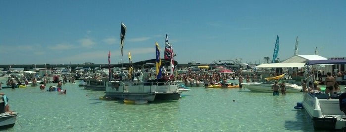 Crab Island is one of Destin.