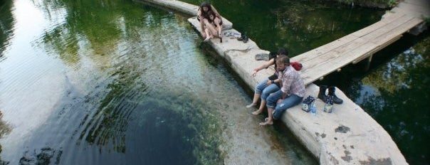 Jacob's Well is one of with son.