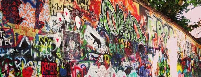 Lennonova zeď is one of Prague.