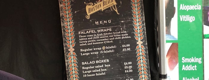 Hoxton Beach Falafel is one of Veggie Lunches near Old Street.