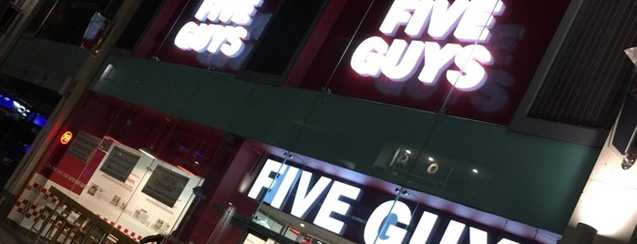 Five Guys is one of Locais curtidos por Eric.