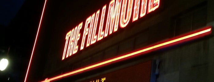The Fillmore is one of music.