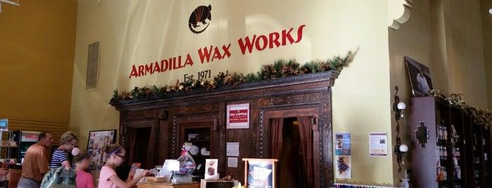 Armadilla Wax Works is one of Tempat yang Disukai Mark.