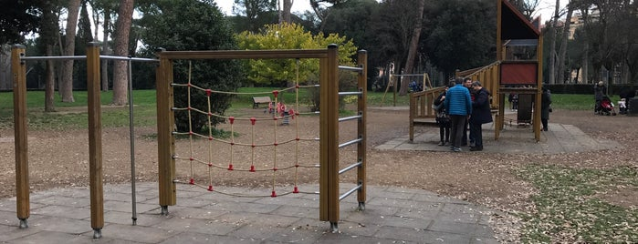Playground in Villa Borghese is one of Rome.