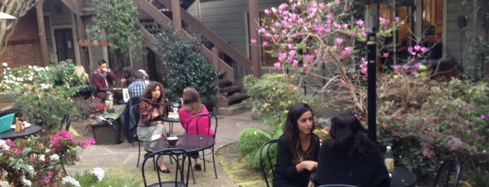 Arlequin Cafe & Food To Go is one of 14 Restaurants in SF Where You'll Hang Outside.