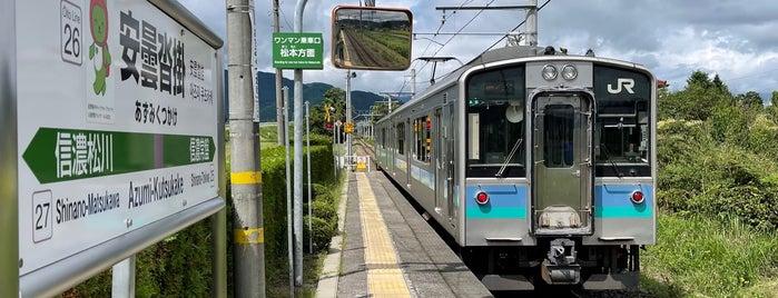 安曇沓掛駅 is one of JR 고신에쓰지방역 (JR 甲信越地方の駅).