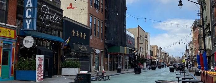 Newark Avenue Pedestrian Plaza is one of Tempat yang Disukai SKW.