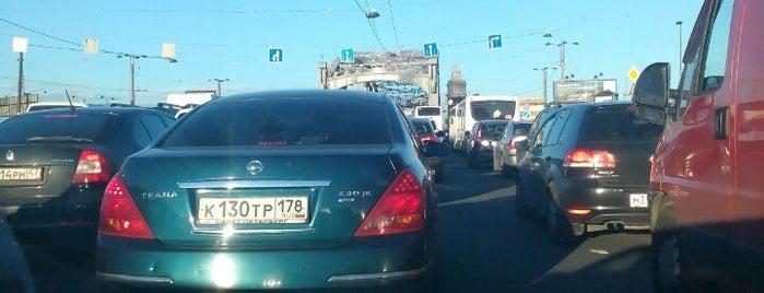 Bolsheokhtinsky Bridge (Peter the Great Bridge) is one of Леночка 님이 좋아한 장소.