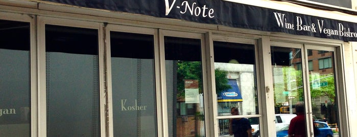 V-Note Vegan Bistro & Wine Bar is one of NYC Detox.