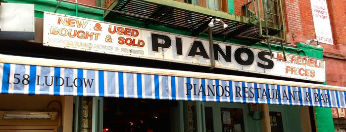 Pianos is one of Small Joints to find the Next Big Thing.
