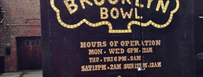 Brooklyn Bowl is one of #BKLOVESuberX.