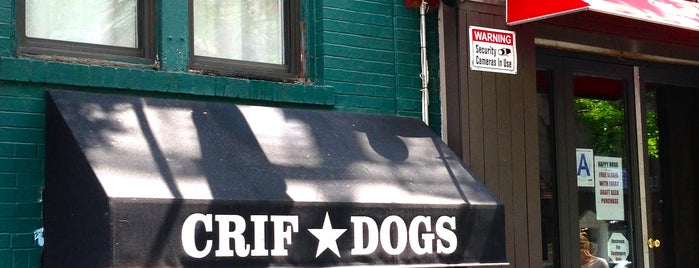 Crif Dogs is one of The Best Late Night Eats in New York.