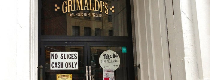Grimaldi's is one of Best Pizzerias.