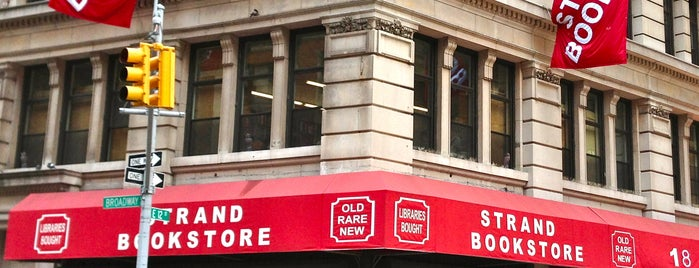 Strand Bookstore is one of Favorite Greenwich Village Spots.