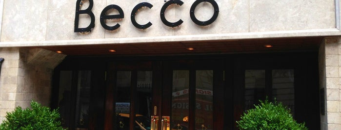 Becco is one of NYC restaurants.