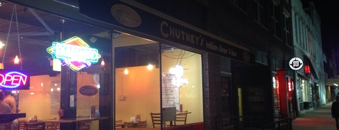 Chutney's Indian Diner & Bar is one of Vegan Hot Spots.