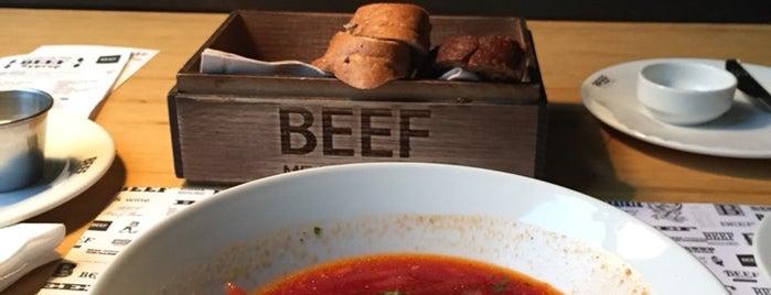 BEEF Мясо & Вино is one of Tempat yang Disukai Lilit.