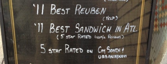 Reuben's Deli is one of Atlanta.