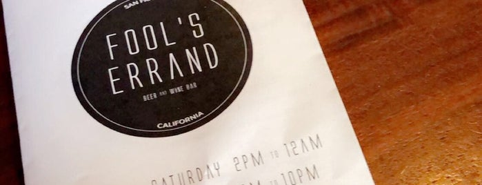 Fool's Errand is one of San Fran cont..