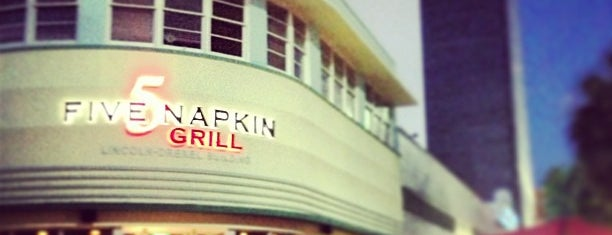 5 Napkin Grill is one of Guide to Miami Beach's best spots.
