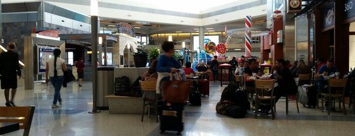 Dallas Fort Worth International Airport (DFW) is one of Tempat yang Disukai David.