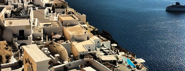 Fira is one of Santorini + Mykonos.