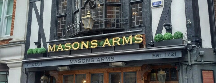 The Mason's Arms is one of London Favourites.
