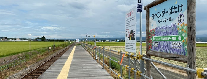 Lavender-Farm Station is one of JR 홋카이도역 (JR 北海道地方の駅).