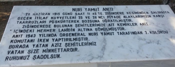 Nuri Yamut Anıtı is one of Şule Nur 님이 좋아한 장소.