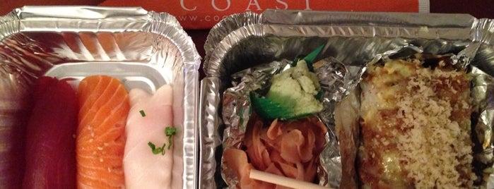 Coast Sushi Bar is one of Lugares favoritos de Rebecca.